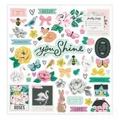 Garden Party 12 x 12 Chipboard Stickers - Maggie Holmes