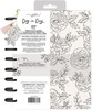 Black & White Freestyle Floral Disc Planner - Maggie Holmes