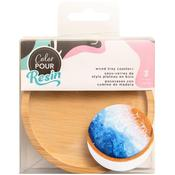 Color Pour Resin Wood Tray Coasters - American Crafts