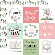 4X4 Journaling Cards Paper - Flower Garden - Carta Bella