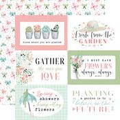 6X4 Journaling Cards Paper - Flower Garden - Carta Bella