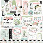 Flower Garden Element Sticker - Carta Bella