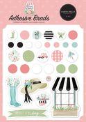 Flower Garden Adhesive Brads - Carta Bella