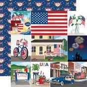 Multi Journaling Cards Paper - God Bless America - Carta Bella