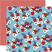 Fourth Floral Paper - God Bless America - Carta Bella