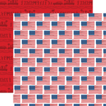 Flying Flags Paper - God Bless America - Carta Bella
