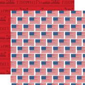 Flying Flags Paper - God Bless America - Carta Bella