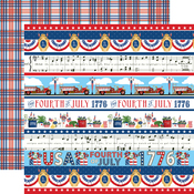 Border Strips Paper - God Bless America - Carta Bella