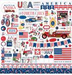 God Bless America Element Sticker - Carta Bella