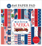 God Bless America 6x6 Paper Pad - Carta Bella