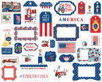 God Bless America Frames & Tags - Carta Bella