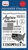 God Bless America Stamp Set - Carta Bella