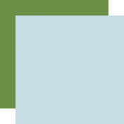 Lt. Blue / Green -Coordinating Solid Paper - Flora No.4 - Carta Bella