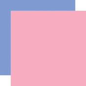 Dk. Pink / Blue -Coordinating Solid Paper - Flora No.4 - Carta Bella