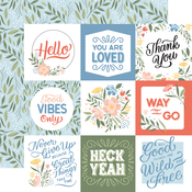 Journaling Cards Paper - Salutations No. 1 - Echo Park