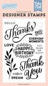 Thanks Stamp Set - Salutations No. 1 - Echo Park