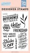 You Make Me Happy Stamp Set - Salutations No. 1 - Echo Park
