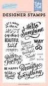 Hello Sunshine Stamp Set - Salutations No. 1 - Echo Park