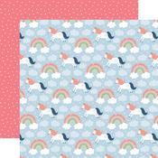 Riding Rainbows Paper - Little Dreamer Girl - Echo Park