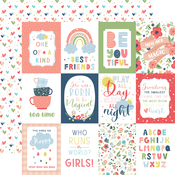 3X4 Journaling Cards Paper - Little Dreamer Girl - Echo Park