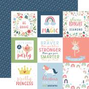 4X4 Journaling Cards Paper - Little Dreamer Girl - Echo Park