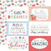 6X4 Journaling Cards Paper - Little Dreamer Girl - Echo Park