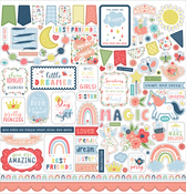 Little Dreamer Girl Element Sticker - Echo Park