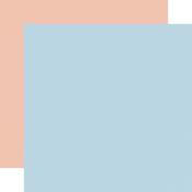 Lt. Blue / Lt. Pink -Coordinating Solid Paper - Little Dreamer Girl - Echo Park