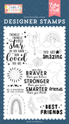 Best Friends Stamp Set - Little Dreamer Girl - Echo Park