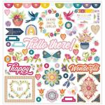 Wonders 12 x 12 Chipboard Stickers - Paige Evans