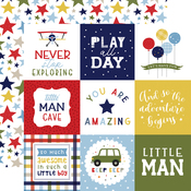 4X4 Journaling Cards Paper - Little Dreamer Boy - Echo Park