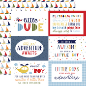 6X4 Journaling Cards Paper - Little Dreamer Boy - Echo Park
