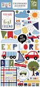 Little Dreamer Boy 6x13 Chipboard Accents - Echo Park - PRE ORDER