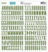 Green Puffy Alpha Stickers - Some Days - Pinkfresh Studio - PRE ORDER