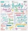 Keeping It Real Puffy Phrase Stickers - Pinkfresh Studio