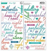 Keeping It Real Puffy Phrase Stickers - Pinkfresh Studio - PRE ORDER