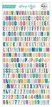Keeping It Real Mini Alphabet Stickers - Pinkfresh Studio