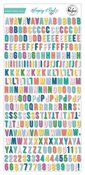 Keeping It Real Mini Alphabet Stickers - Pinkfresh Studio - PRE ORDER