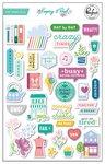 Keeping It Real Puffy Stickers - Pinkfresh Studio