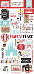 A Magical Place 6x13 Chipboard Phrases - Echo Park