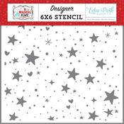 Hearts & Stars Stencil - A Magical Place - Echo Park