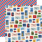 World Stamps Paper - Our Travel Adventure - Carta Bella