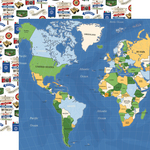 World Map Paper - Our Travel Adventure - Carta Bella