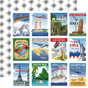 Travel Posters Paper - Our Travel Adventure - Carta Bella