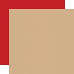 Tan / Red -Coordinating Solid Paper - Outdoor Adventures - Carta Bella - PRE ORDER