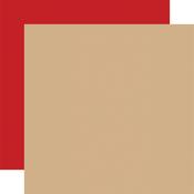 Tan / Red -Coordinating Solid Paper - Outdoor Adventures - Carta Bella