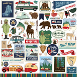 Outdoor Adventures Element Sticker - Carta Bella - PRE ORDER