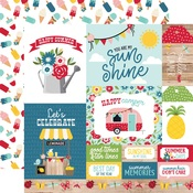 Multi Journaling Cards Paper - A Slice Of Summer - Echo Park
