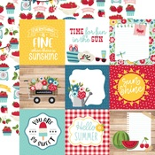 Journaling Cards 4x4 Paper - A Slice Of Summer - Echo Park