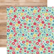 Hello Summer Floral Paper - A Slice Of Summer - Echo Park